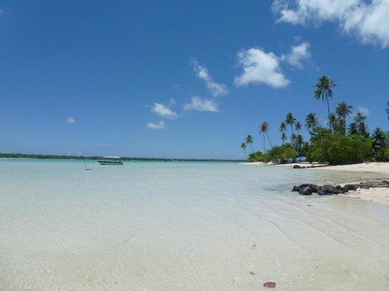 Fare Pae'ao (Chez Janine): Plage de Maupiti