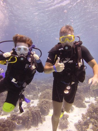 Aquarius Diving Club: father and son scuba diving