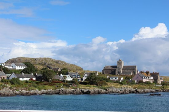 St Columba Hotel The Iona Village Is On Upper Left
