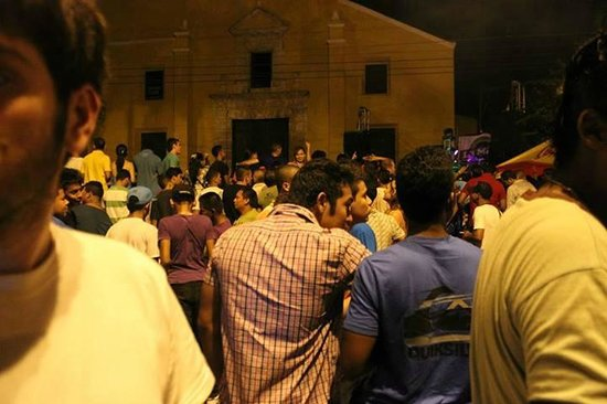 Casa Marta Cartagena: noone parties like colombians! so much fun right outside our door this night for locals and tour