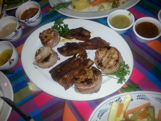 Pancho's Restaurant & Tequila Bar: Blackened and Bacon wrapped Yellow Fin
