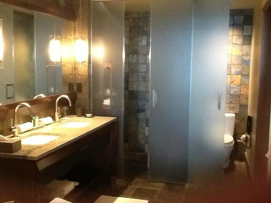 Primland: Very fancy bathroom-quite elegant!