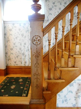 Louisbourg Harbour Inn: The Lovely Carved Oak Staircase