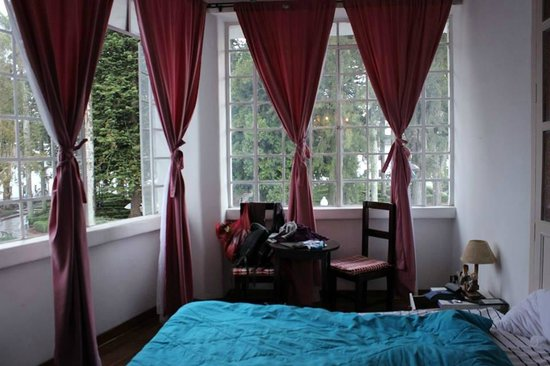 ParkLife Hostel Popayan: our room overlooking the main plaza, right in the centre!