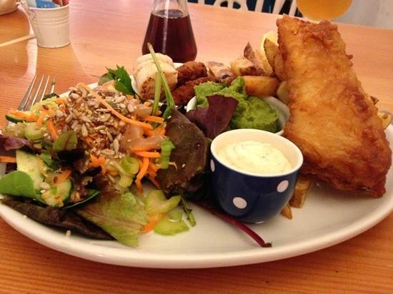 Kids Meal Chicken Goujons Chips Salad Picture Of The Courtyard