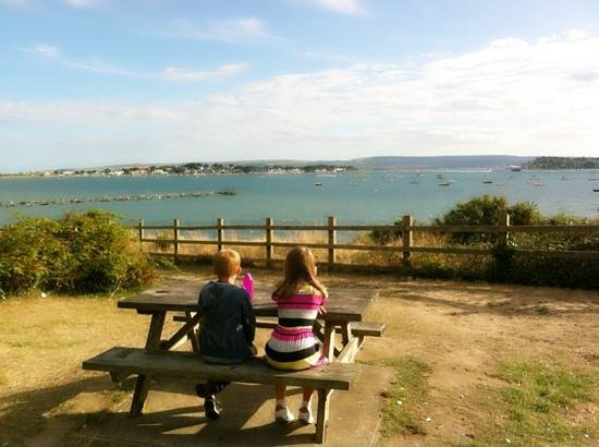Sandbanks: the view from 'evening hill'