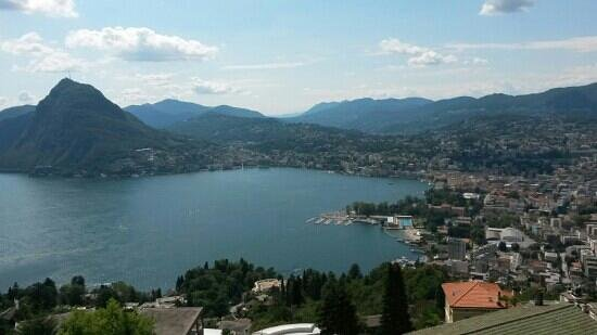 Hotel Colibri: top view on Lugano and lake