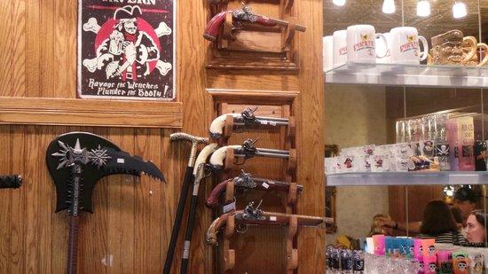 Pirates Dinner Adventure: The Store Nice Guns!