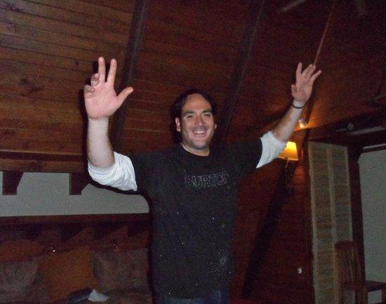 Powder Lodge : Patricio aka 'Pato' and an evening welcome