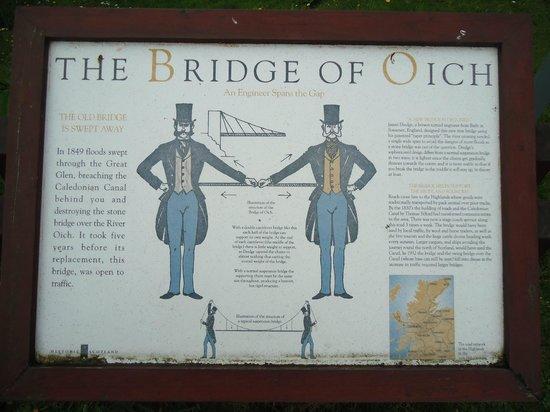 Caledonian Canal Visitor Centre: História da Ponte de Oich