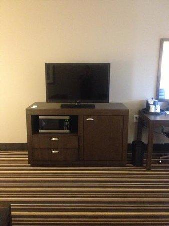 Hampton Inn & Suites Denver Downtown-Convention Center: TV/fridge/microwave