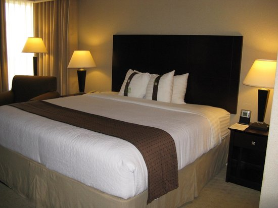 Holiday Inn Baton Rouge: king bed -- Holiday Inn, Baton Rouge