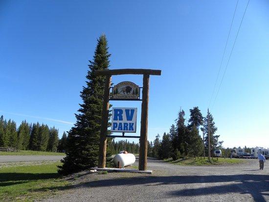 Buffalo Run RV Park & Cabins: Our Sign