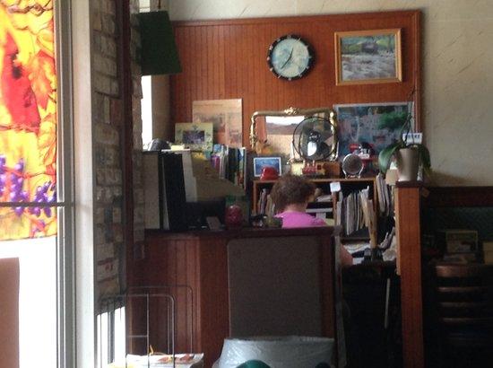 Glen Alpine Depot: Granny's Office at front door hostess station