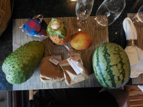 Secret Bay: Some of the goodies from our Welcome Basket