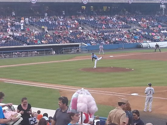 Harbor Park: Freddy Garcia pitching