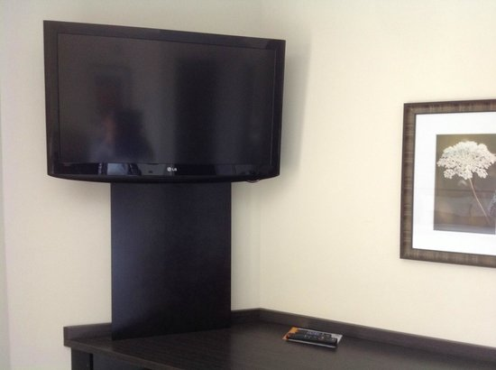 Candlewood Suites Sioux Falls: tv in desk area at Candlewood Suites