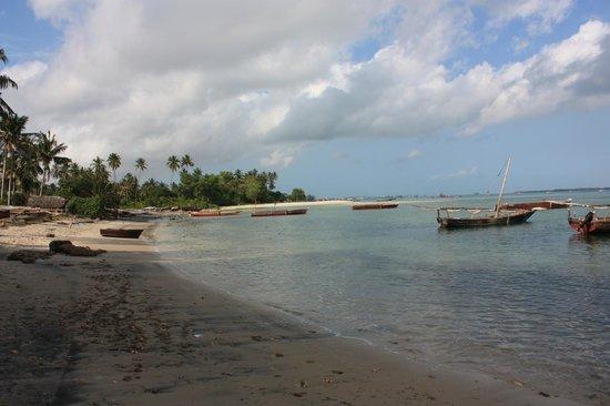 Imani Beach Villa: view of the beach outside the villa