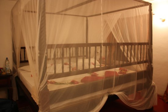 Imani Beach Villa: giant sized bed for 4!