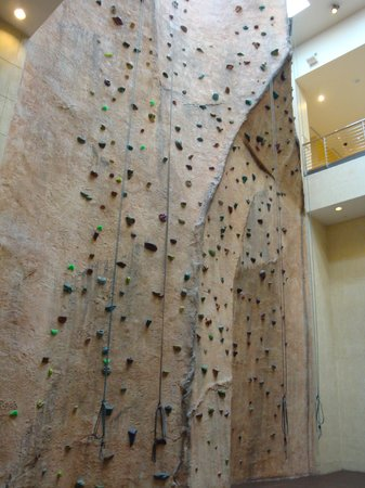 Canyon Ranch SpaClub - Las Vegas: The rock wall of the gym.