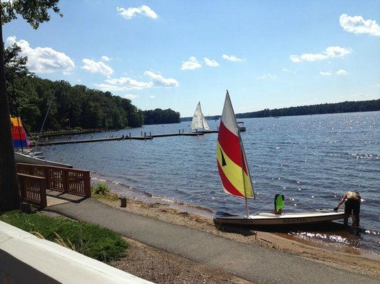 The Boathouse at Rocketts Landing: view from patio