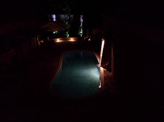 Belgrade Boutique Hotel: Pool at night