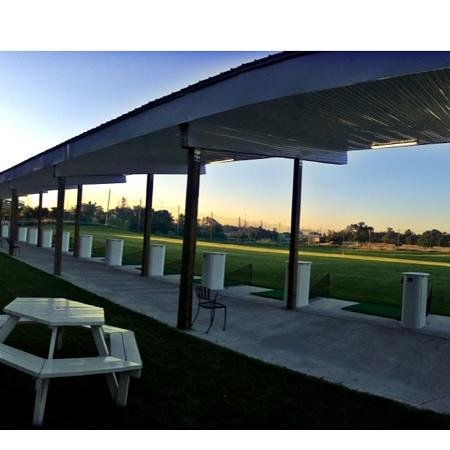 AGT Golf Driving Range: sunset in the range