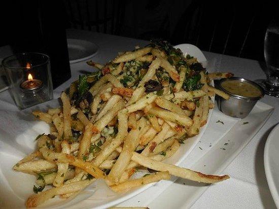 Atria: Truffle Parm String Fries w/Sauce... FANTASTIC.