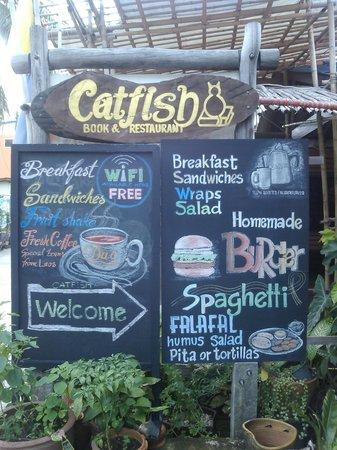 Catfish Bookshop & Restaurant: welcome