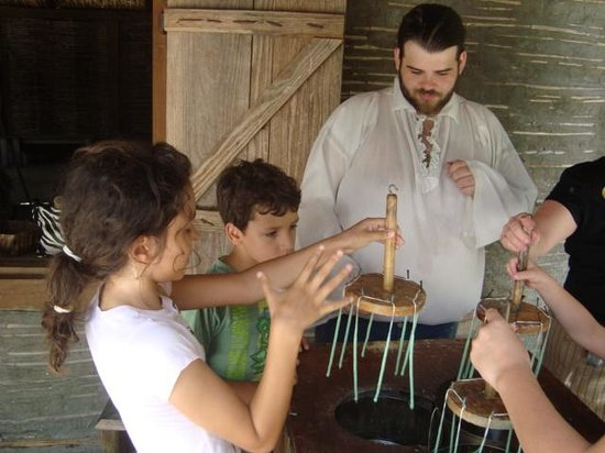 Fort Menendez at the Old Florida Museum: Dipping Candles