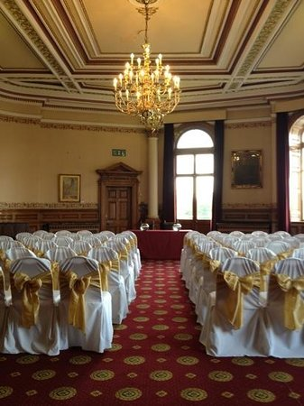 Council Chamber Wedding Breakfast Without Chair Covers