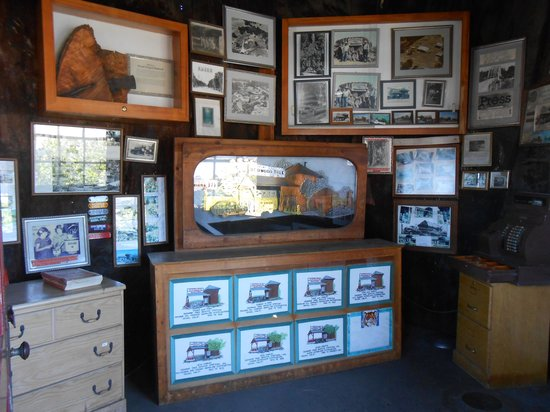 """World""""s Largest Redwood Tree Service Station: Inside very small museum"""