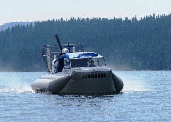 ‪Hovercraft Rides on Lake Coeur d'Alene‬