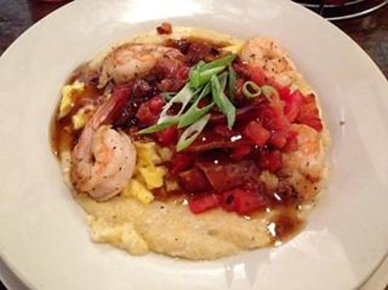 Big Bad Breakfast: Shrimp and grits with red-eye gravy at BBB