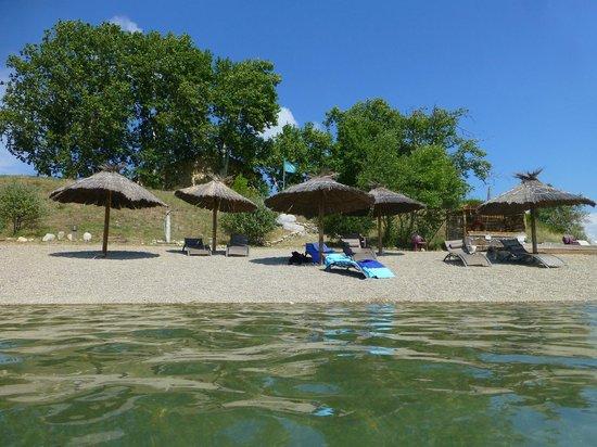 Réal Plantain : plage aménagée