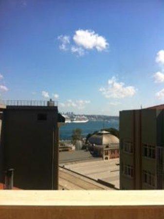 Nea Suites Old City: Vista desde la terraza de la habitación