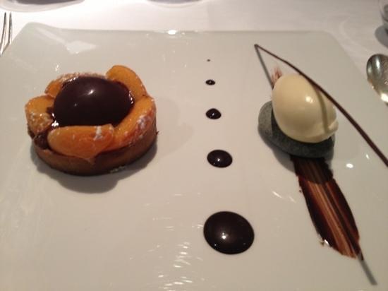 La Ciboulette : chocolat abricot et glace verveine