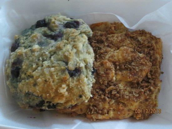 Sweet Harmony Cafe & Bakery: blueberry and sweet potato scones