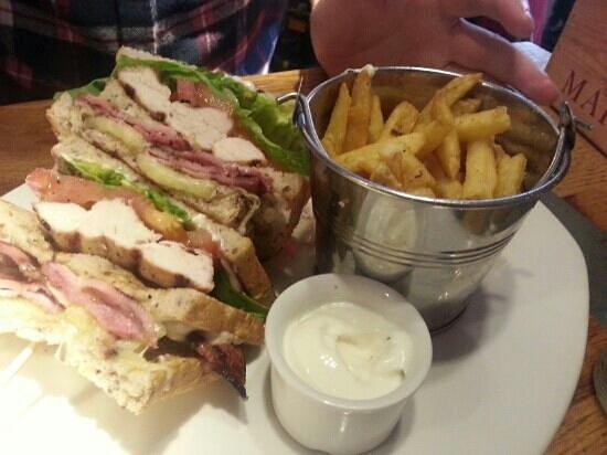 All Bar One York: Club Sandwich
