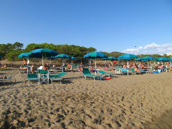 Camping Maremma Sans Souci: gli ombrelloni