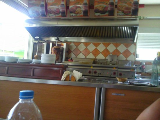 Enjoy the Food : View of the serving Area