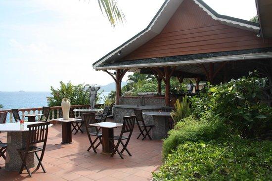 Hotel L'Ocean: Terrasse vor dem Hotelrestaurant