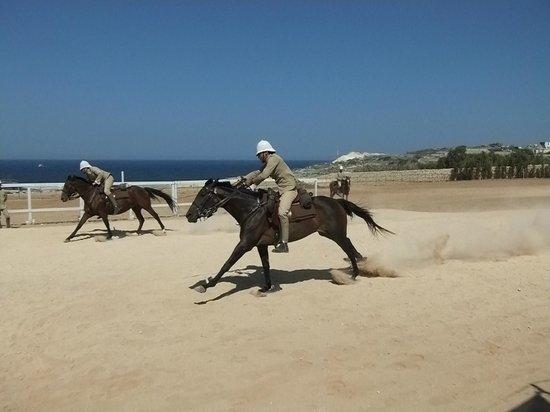 Fort Rinella: Cavalry display