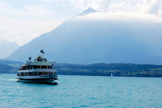 Thunersee: Ferry boat lake Thun