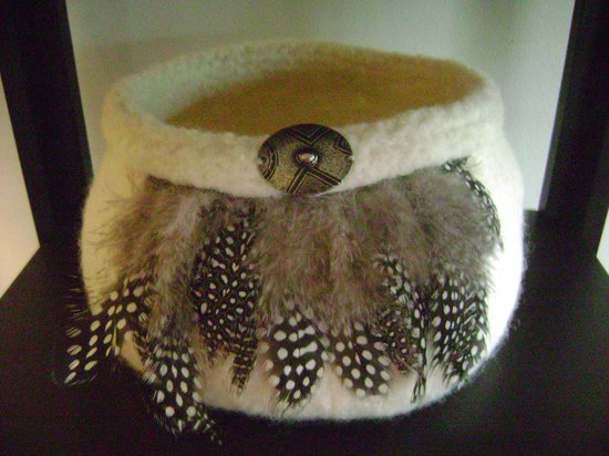 Silva Gallery: Felt Pottery bowl by Pam Silva