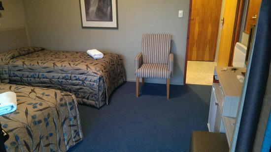 Te Anau Lakeview Holiday Park : Our twin share room, beds are amazing!
