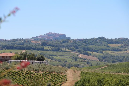 L'Orto di Panza: Uitzicht op Montepulciano