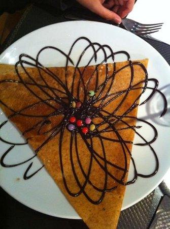 Balade en Crepanie : crêpe chocolat