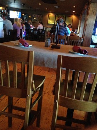 Weirs Beach Lobster Pound: Here is a photo of empty seats in a really bad food establishment.