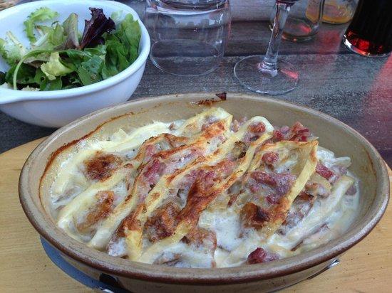 Le Rocher: The local Savoyard dish - Tartiflette, very tasty